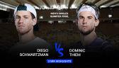 Skrót meczu Schwartzman - Thiem w ćwierćfinale Roland Garros