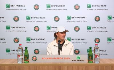 Iga Świątek na konferencji prasowej po awansie do finału Roland Garros