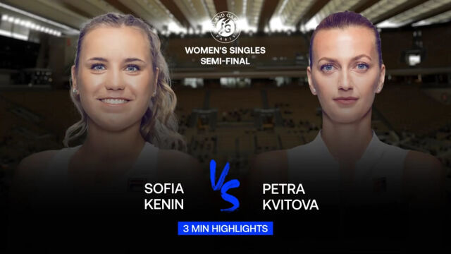 Skrót meczu Kenin - Kvitova w półfinale Roland Garros