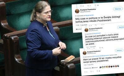 Weszła do Sejmu jako ekspert prawniczy, zasłynęła kontrowersjami. Pawłowicz zapowiedziała odejście z polityki