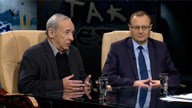 prof. Andrzej Paczkowski i prof. Antoni Dudek w Tak jest