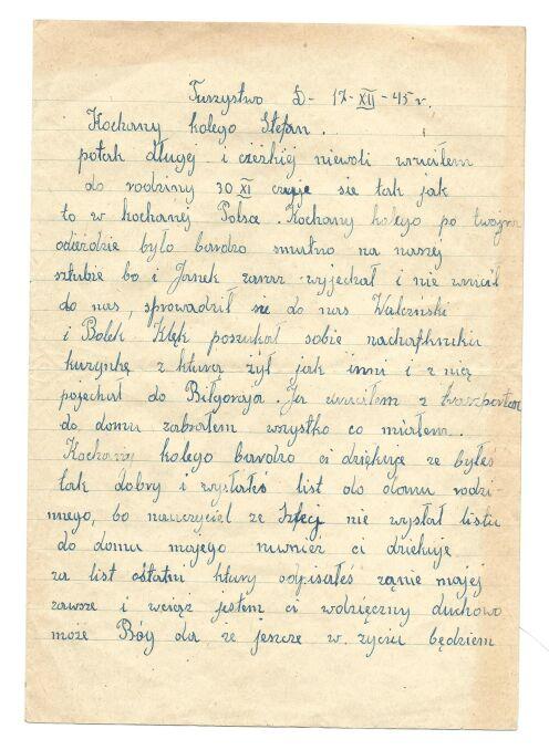 List Zdunka do Stefana Hoppela