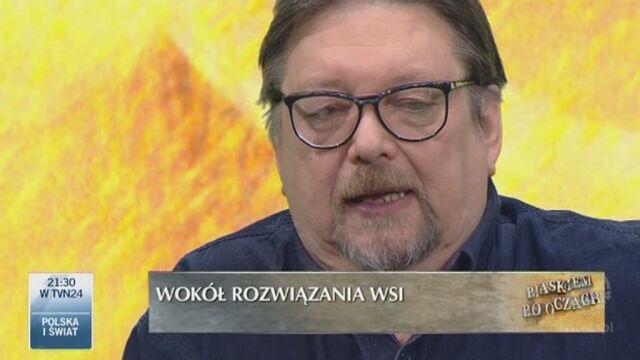 Urbański o ustawie rozwiązującej WSI (TVN24)