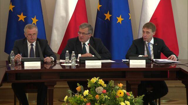 Prezydent Komorowski o 25 latach polskiej wolności