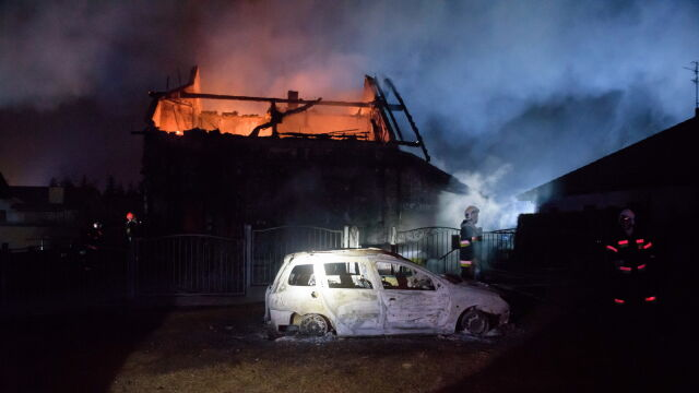 Pożar w Murowanej Goślinie k. Poznania