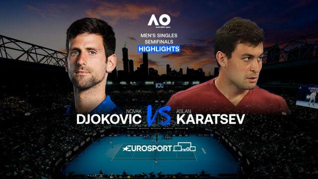Skrót meczu Djoković - Karacew w półfinale Australian Open