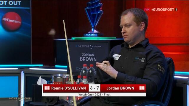Brown znów na prowadzeniu po 13 frejmach finału Welsh Open
