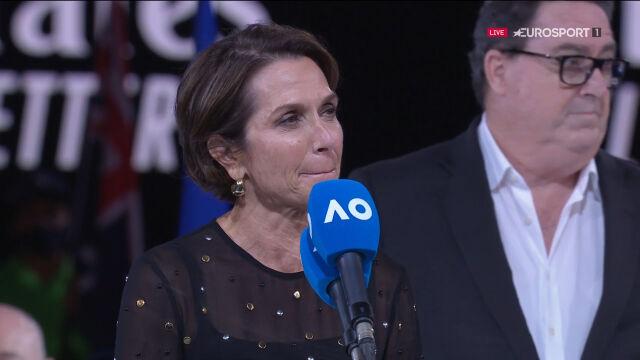 Hrdlicka wygwizdana podczas przemówienia po finale singlistów