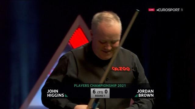 Higgins pokonał Browna w 1. rundzie Players Championship