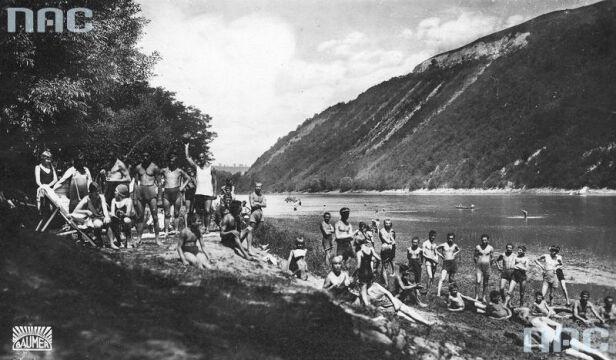 Fragment plaży nad Dniestrem, 1918-1939.