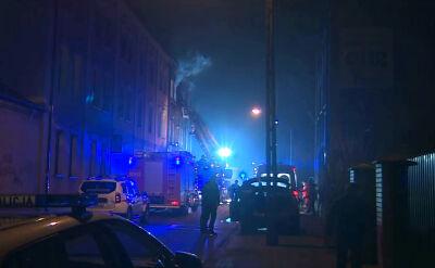 Pożar w jednym z budynków w Częstochowie, siedem osób w szpitalu