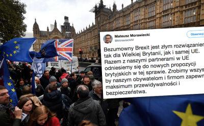 Morawiecki: bezumowny Brexit jest złym rozwiązaniem dla Wielkiej Brytanii, jak i samej UE