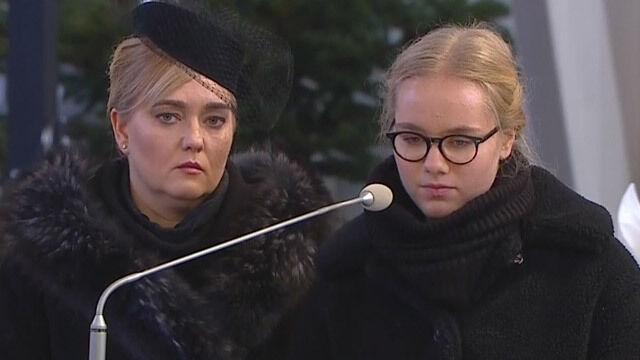 Antonina Adamowicz pożegnała ojca