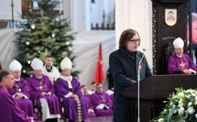 Jacek Karnowski podczas mszy pogrzebowej Pawła Adamowicza