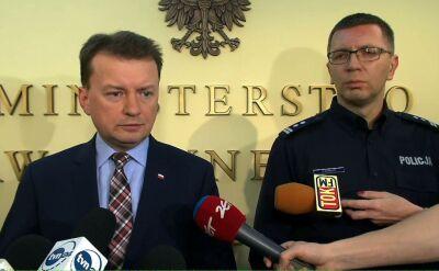 Mariusz Błaszczak podziękowałpolicji