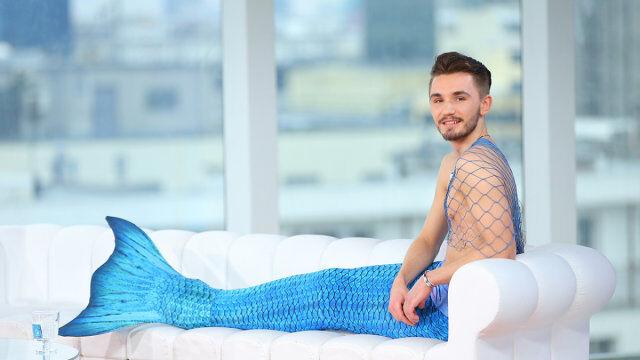 Syren Ariel - jedyny w Polsce mężczyzna z ogonem