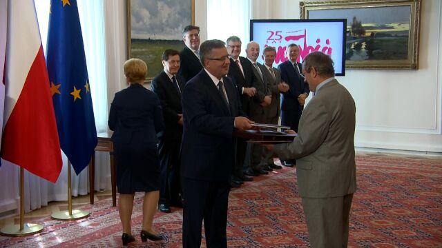 Prezydent Komorowski wręczył brytyjskiemu historykowi aktu nadania polskiego obywatelstwa