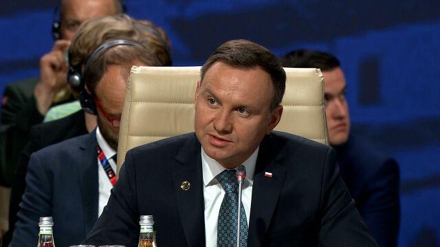 Prezydent Duda zabrał głos w trakcie pierwszej sesji szczytu NATO