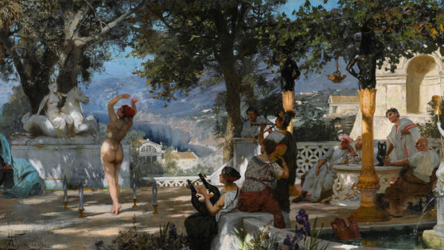 Obraz Siemiradzkiego wycofany z aukcji  w Londynie. Gliński: chcemy jego zwrotu