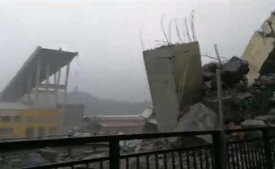 Most urywa się w połowie. Nagranie po katastrofie w Genui