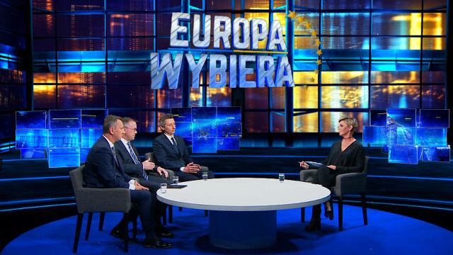 """Wyniki wyborów komentowali goście specjalnego programu """"Fakty po Faktach"""" w TVN24"""