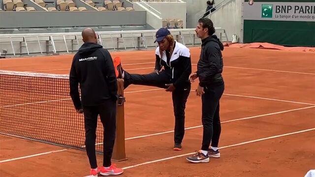 Serena Williams już trenuje w Paryżu. Forma wielką niewiadomą