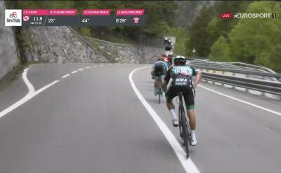 Kryzys Majki na 14. etapie Giro. Polak długo czekał na bidon