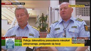 Norweska policja o aresztowaniu podejrzanego o zamachy i masakrę (Reuters)