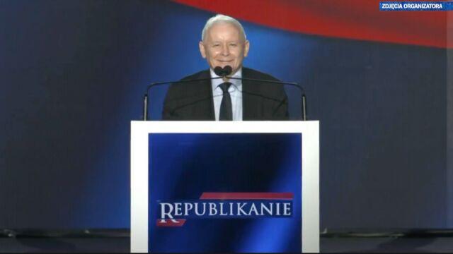 Jarosław Kaczyński na konwencji Partii Republikańskiej