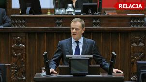 Tusk: Polska wygrała najważniejszą cywilizacyjną batalię. W Sejmie 10-godzinna debata nad unijnym paktem