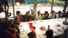 Indiańskie śniadanie w jednej z klas