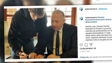 Prawnuk Benito Mussoliniego podpisał kontrakt z Lazio.