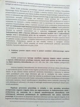 Informacja ministerstwa sprawiedliwości