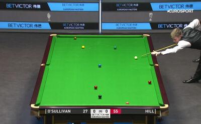 Hill świetnie rozpoczął spotkanie z O'Sullivanem w drugiej rundzie European Masters
