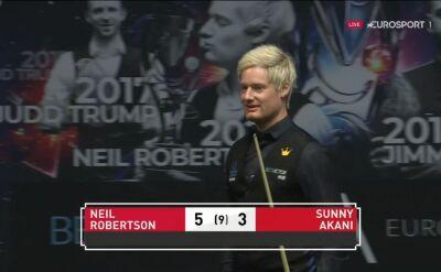 Robertson awansował do drugiej rundy European Masters
