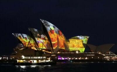 Opera w Sydney w hołdzie strażakom