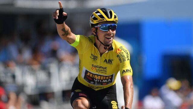 Imponował w Tour de France, teraz zaatakował Vueltę. Pierwszy etap dla Roglicia