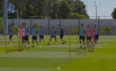Trening Manchesteru City przed starciem z Olympique Lyon w ćwierćfinale Ligi Mistrzów