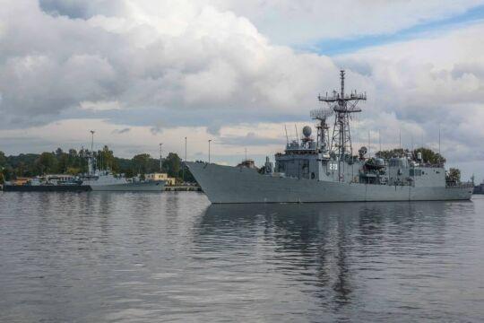 Okręty cumujące w polskim porcie wojennym