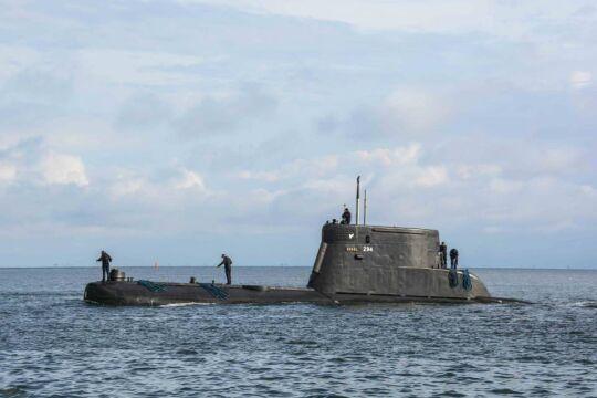 Okręt podwodny wypłynął na ćwiczenia