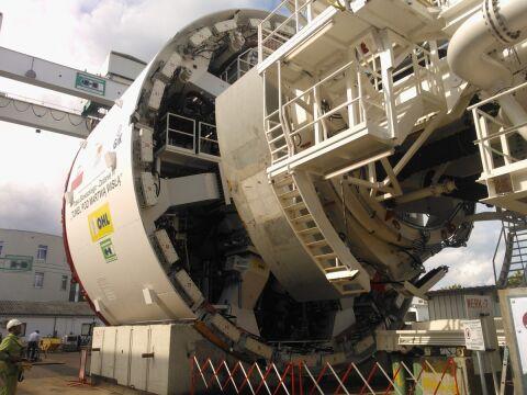 Maszyna będzie drążyć najdłuszy tunel w Polsce