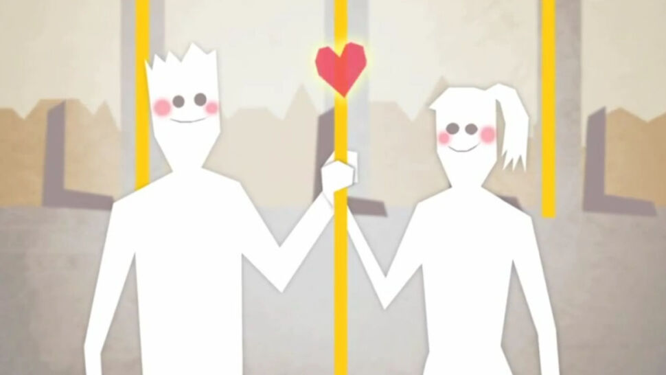 Gdańsk zaprasza do tramwajów  animowanym love story