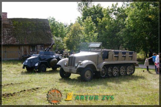 Pojazd brał udział w inscenizacji historycznej Pomorze '39