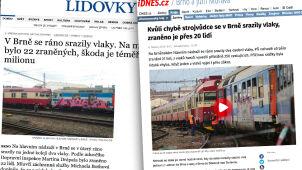 Drugi dzień, drugie zderzenie pociągów w Czechach