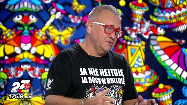 """Jerzy Owsiak w """"Faktach po Faktach"""" o zebranej sumie pieniędzy"""
