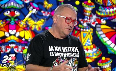 """Jerzy Owsiak, Hanna Gronkiewicz-Waltz i Wojciech Hermeliński w """"Faktach po Faktach"""