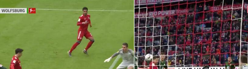 Piękne uderzenie głową, wcześniej jeszcze jeden gol. Tak Lewandowski strzelał Wolfsburgowi