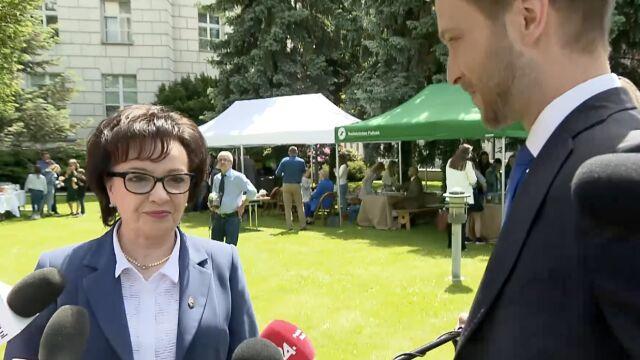 Elżbieta Witek na pikniku edukacyjnym z okazji Dnia Dziecka