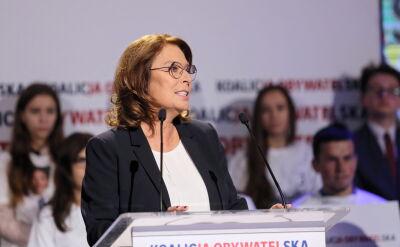 Kidawa-Błońska: apeluję do rządu o zakończenie dotychczasowych wojen