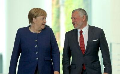 Kanclerz Niemiec spotkała się z królem Jordanii